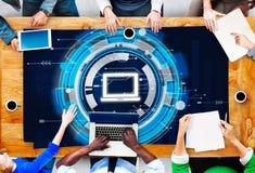 Concept de connexion de technologie de l'information d'ordinateur Images libres de droits
