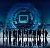 Concept de connexion de technologie de l'information d'ordinateur Photographie stock libre de droits