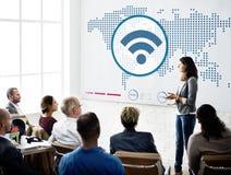 Concept de connexion de technologie du sans fil de télécommunications mondiales Image stock