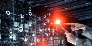 Concept de connexion sans fil et de nouvelle technologie Media mélangé Media mélangé Image libre de droits