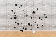 Concept de connexions réseau Figures abstraites liées à Lin Photo libre de droits