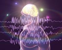 Concept de conscience d'épilepsie illustration de vecteur