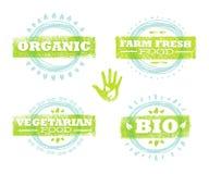 Concept de construction approximatif créatif de nourriture organique d'Eco Mangez l'illustration fraîche locale de produits sur l illustration libre de droits