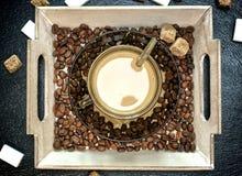 Concept de construction de caféine Photographie stock