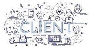 Concept de construction de client Idée d'Infographic de faire les produits créatifs illustration stock