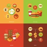 Concept de construction d'aliments de préparation rapide Image stock
