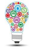 Concept de construction d'ampoule d'assurance Images stock