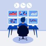 Concept de construction d'analyse de données Images libres de droits