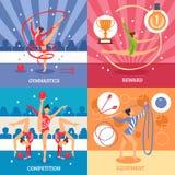 Concept de construction d'Art Gymnastics 2x2 Images stock