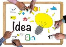 Concept de construction d'idée d'idées Image stock