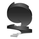 Concept de construction d'isolement par escalier circulaire noir et blanc Photo libre de droits