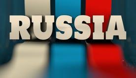 Concept de construction de drapeau de la Russie Photographie stock libre de droits