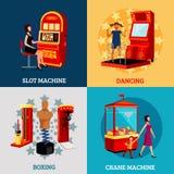 Concept de construction de la machine 2x2 de jeu Photo libre de droits