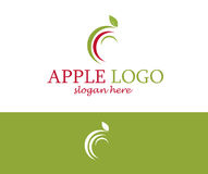 Concept de construction de logo d'Apple Images libres de droits