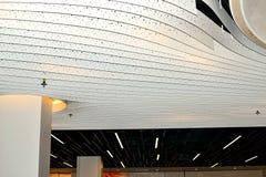 concept de construction de lumière d'art moderne dans l'aéroport de Schiphol en Hollande Images libres de droits