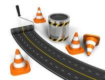 Concept de construction de routes illustration de vecteur
