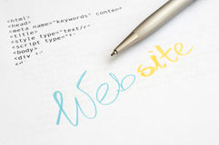 Concept de construction de site Web photographie stock libre de droits
