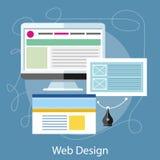 Concept de construction de Web Photo libre de droits