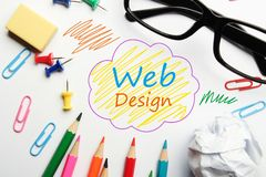 Concept de construction de Web images stock
