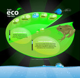 Concept de construction de Web d'Eco Photo stock