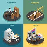 Concept de construction des professions 2x2 d'artisan illustration libre de droits