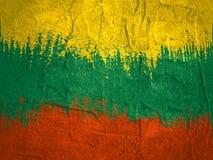 Concept de construction de drapeau de la Lithuanie Photos stock