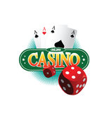 Concept de construction en ligne de casino illustration de vecteur