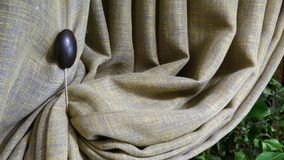 Concept de construction gris de maison de rideau Fond abstrait de texture de tissu de rideau image libre de droits