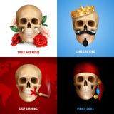 Concept de construction humain du crâne 2x2 illustration libre de droits