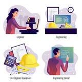 Concept de construction de l'ingénierie 2x2 illustration libre de droits