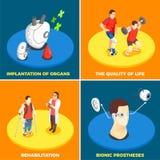 Concept de construction médical de la technologie 2x2 illustration libre de droits