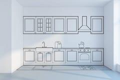 Concept de construction de planification de cuisine illustration libre de droits