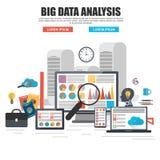 Concept de construction plat de grande analyse de données d'affaires Photo libre de droits