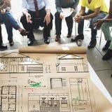 Concept de Construction Project Sketch d'architecte de modèle Photo libre de droits