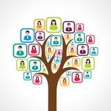 Concept de construction social créatif d'arbre de personnes illustration stock