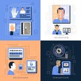 Concept de construction de technologies d'identification illustration de vecteur