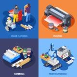 Concept de construction de tirage en couleurs Photo stock
