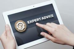 Concept de consultation d'aide d'entreprise de services d'avis d'expert photos libres de droits
