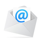Concept de contact de Web d'email Images libres de droits