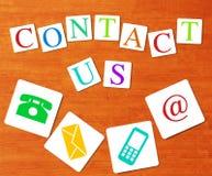 Concept de contactez-nous de site Web et d'Internet Photo stock