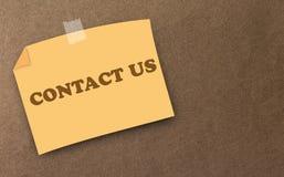Concept de contactez-nous de site Web et d'Internet Image stock