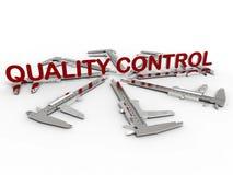 Concept de contrôle de qualité illustration stock