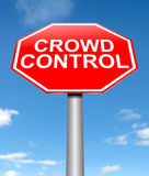 Concept de contrôle des foules. Image libre de droits