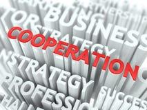 Concept de coopération. illustration de vecteur