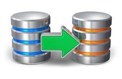 Concept de copie de sauvegarde de base de données illustration libre de droits