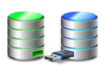 Concept de copie de sauvegarde de disque dur illustration de vecteur
