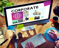 Concept de Corporate Business Organization Company photo stock
