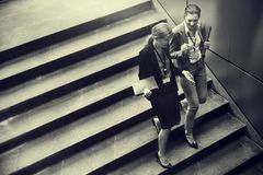 Concept de Corporate Colleagues Talking de femme d'affaires image stock