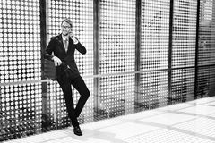 Concept de Corporate Handsome Looking d'homme d'affaires de patron images libres de droits