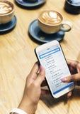 Concept de correspondance de mise en réseau de connexion d'email photo libre de droits